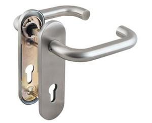 Ручка дверная DH-0433 SS с пружиной, НЕРЖАВЕЙКА, квадрат 9x140 мм