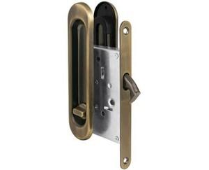 Защелка с Punto (Пунто) ручками для раздвижных дверей Soft LINE SL-011 AB