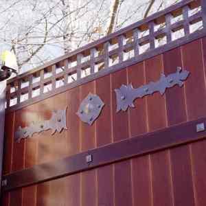 Деревянные откатные ворота