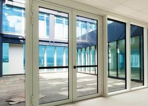 Противопожарная алюминиевая дверь АЛ-1