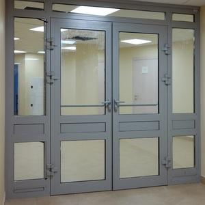 Противопожарная алюминиевая дверь АЛ-3