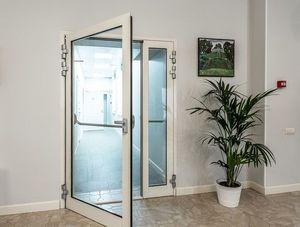 Противопожарная алюминиевая дверь АЛ-7