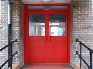 Противопожарная алюминиевая дверь АЛ-8