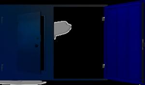 Ворота для гаража с калиткой СВ-1