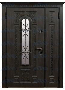 "Двустворчатая металлическая дверь ""Фасад-4"""