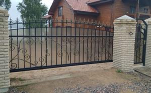 Комбинированные откатные ворота